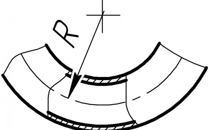 Минимальные радиусы гибки труб, Источник: ГОСТ 17365-71